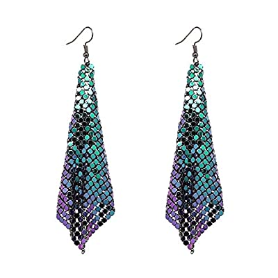Discount Guiyan Women Girls Lightweight Hook Sequin Mesh Dangle Earrings Jewelry