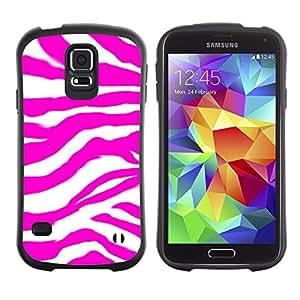 Suave TPU Caso Carcasa de Caucho Funda para Samsung Galaxy S5 SM-G900 / Zebra Pattern Pink Purple Wallpaper Random / STRONG