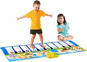 ZLWPH Children's Piano Mat Carpet, Music Touch Game Mat/Baby Toddler Activity Gym Game Mat, Early Education Music Folding Keyboard Game Mat