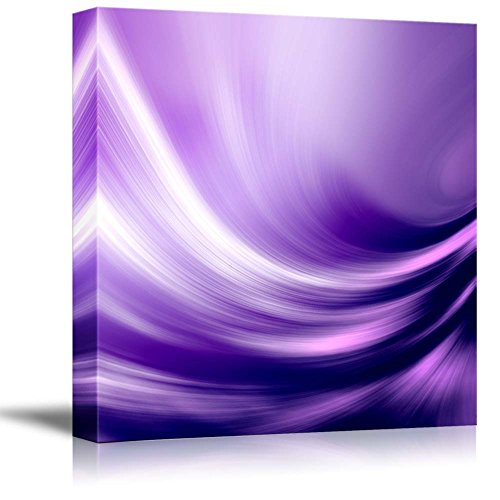 Wall26   Canvas Prints Wall Art   Electric Waving Purples | Modern Wall  Decor/ Home Decoration Stretched Gallery Canvas Wrap Giclee Print.