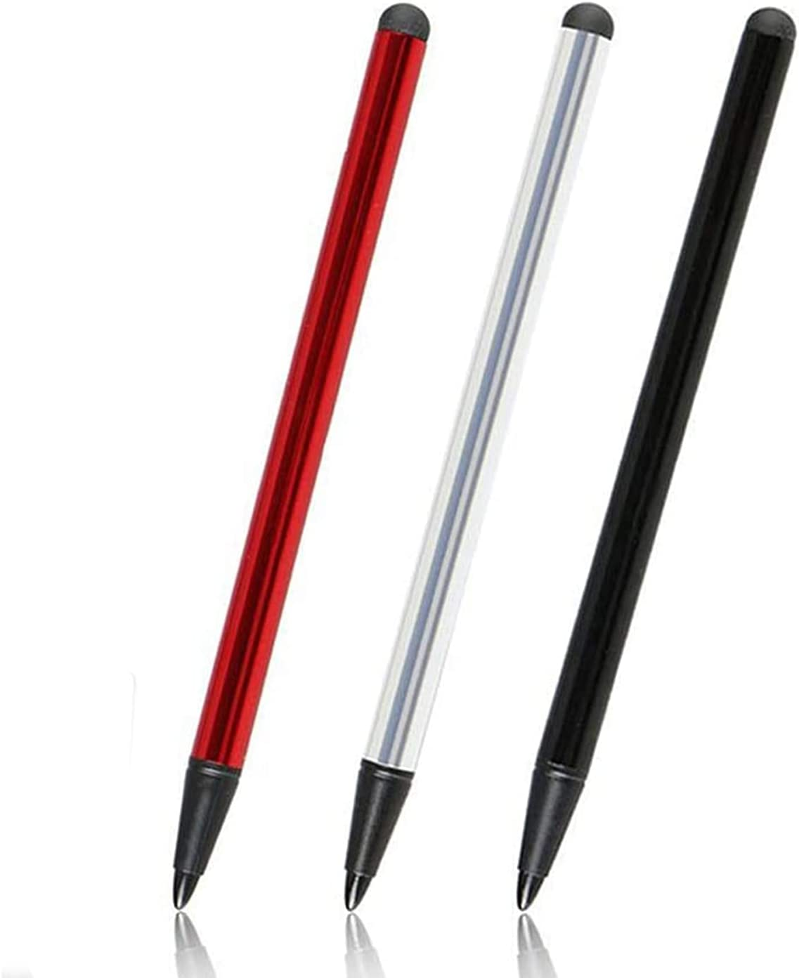 Capacitive and Resistive Stylus Pen, Universal High Sensitive & Precision Capacitive Disc Tip Touch Screen Pen Stylus, 2 in 1 Touch Screen Pen for iPhone iPad Samsung Tablet Phone PC & Other(3 Pack)