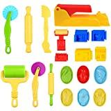 Kare & Kind® Set of 19pcs Smart Dough Tools Kit with Extruder Machine, Models and Molds (Animals, House, Equipment)