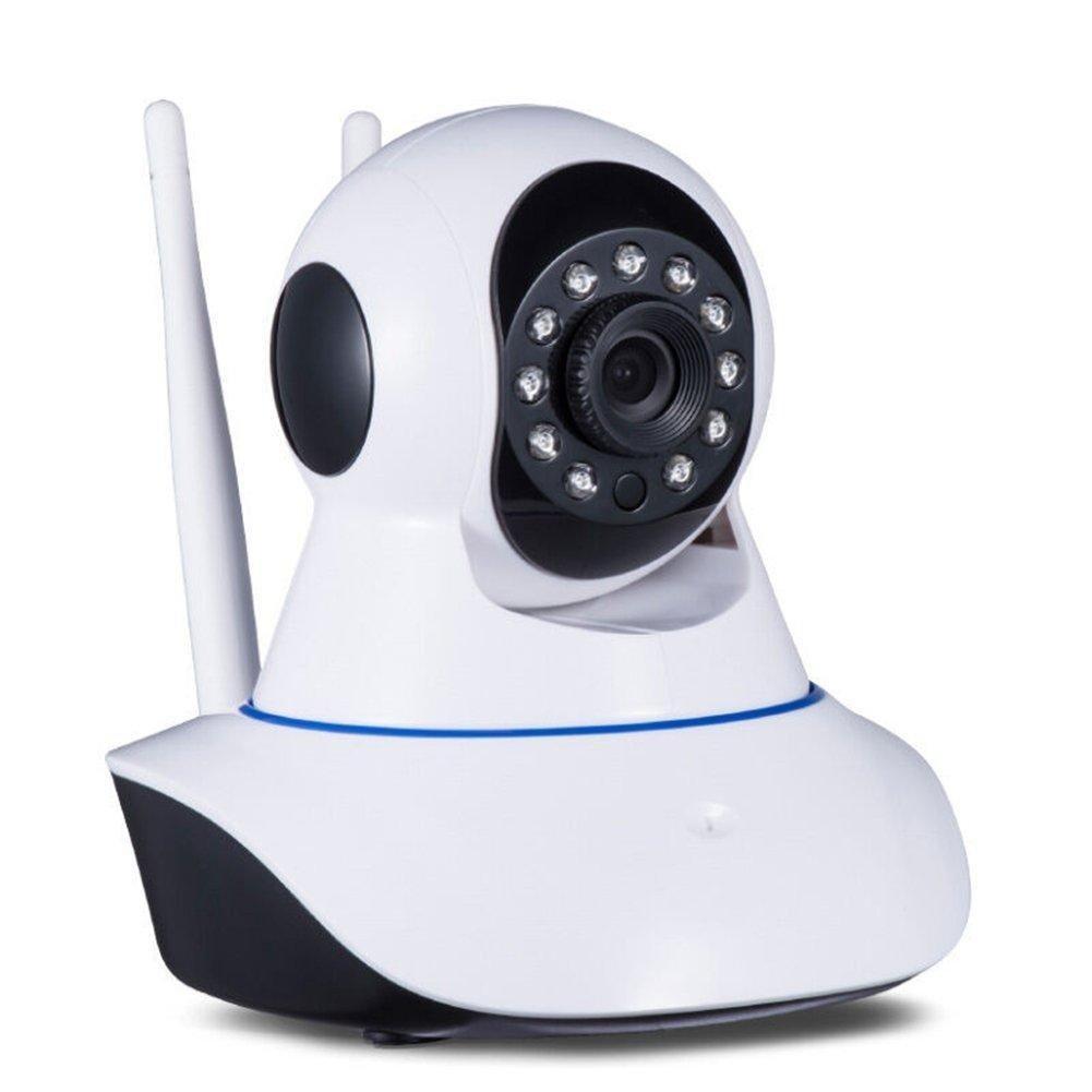 Cámara IP HD 720 P led IR LAN inalámbrica Wi-Fi motorizada con audio y doble antena