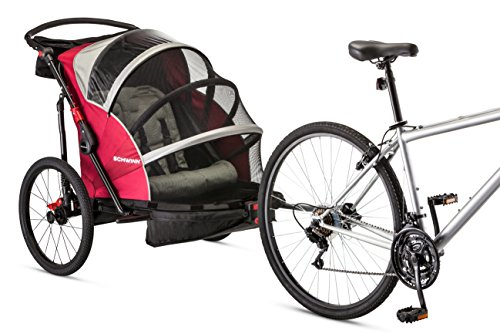 (Schwinn Joyrider Double Bicycle Trailer, Red)
