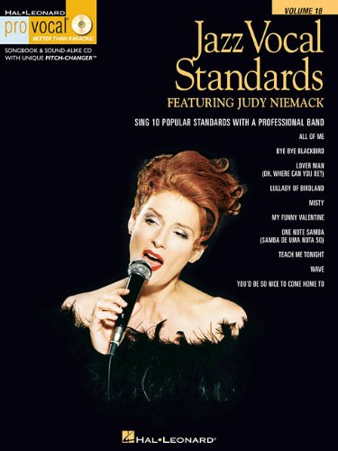 Sheet Jazz Music Vocal (Jazz Vocal Standards: Pro Vocal Women's Edition Volume 18 featuring Judy Niemack (Hal-Leonard Pro Vocal Better Than Karaoke!))
