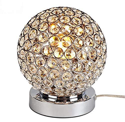 QURRAS Lámpara de Mesa de Cristal, lámpara de Mesa esférica ...