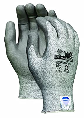 MCR Safety 9676XXL UltraTech Dyneema 13-Gauge PU Coating Washable Gloves, Salt and Pepper, 2X-Large