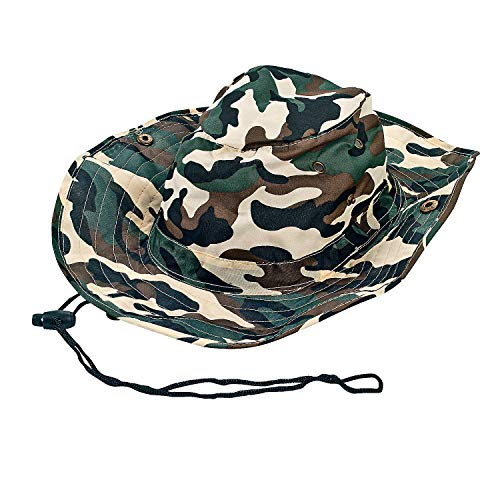 Fun Express - Camouflage Outback Hats - Apparel Accessories - Hats - Fabric Hats - 12 Pieces