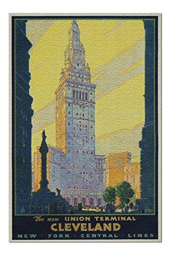 - Union Terminal Cleveland - New York Central (artist: Ragan) USA c. 1930 - Vintage Advertisement (20x30 Premium 1000 Piece Jigsaw Puzzle, Made in USA!)