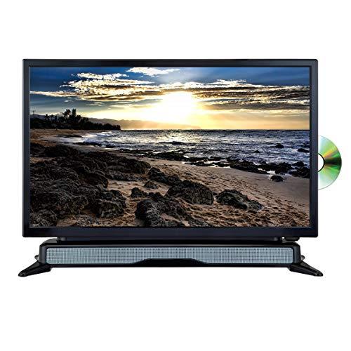 AXESS TVD1804-24 24″ HD TV/DVD Combo with External Soundbar Speaker, SD Card, AC/DC Power, HDMI Port, Remote Control (Renewed)