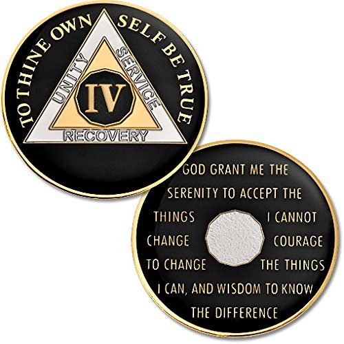 Obverse Proof Like - 4 Year - AA Chip Proof-like Bronze with Tri-Plate - Gold, Nickel, and Black Enamel - 1 3/8