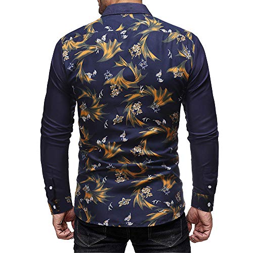Men's Navy T Print Shirt PASATO Casual Long Sale Sleeved Clearance Classic Top Autumn Pullover Blouse Winter zwZw5BSqx