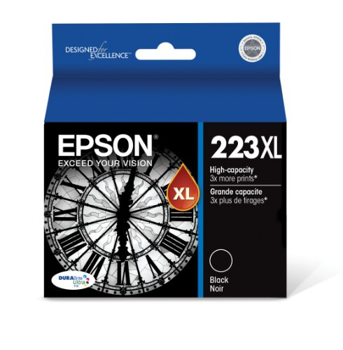 Epson T223XL120 DURABrite Ultra High-Capacity Black Ink Cartridge
