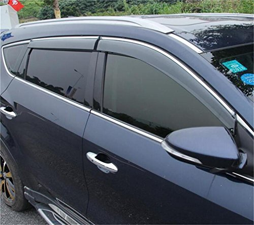 Vesul Updated Side Window Visor Rain Sun Deflectors Guard Vent Shade for Hyundai Santa Fe Sport 2013 2014 2015 2016 2017 2018