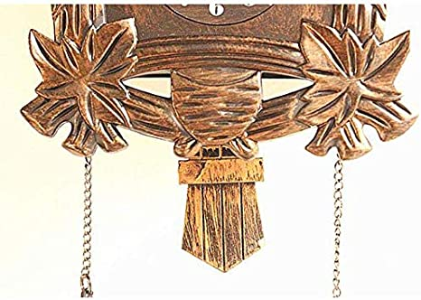 Gzb Kuckucksuhr 1-Tag-Uhrwerk Chalet-Stil Authentisch Schwarzw/älder Kuckucksuhr Bronze Antiseptikum//Bronze 38X21Cm