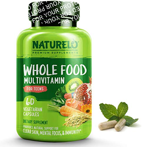 (NATURELO Whole Food Multivitamin for Teens - Natural Vitamins & Minerals for Teenage Boys & Girls - Best Supplement for Active Kids - with Organic Extracts - Non-GMO - Vegan)