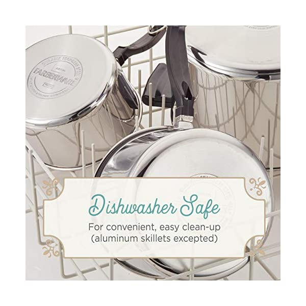 Farberware Classic Stainless Steel Cookware Pots and Pans Set, 17-Piece 4