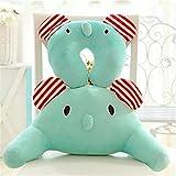 Soft Cute Cartoon Animals Design Warm Plush Cotton Lumbar Support Waist Back Rest Pillow for Car Sofa Bed (Mint Elephant)