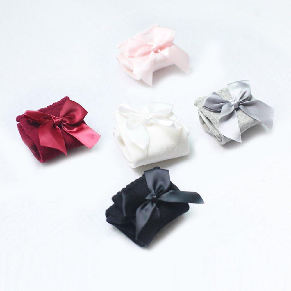 XPXGMT Lot de 5 Coton Arc Chaussettes Hautes Genou B/éb/é Fille 0-4 ans