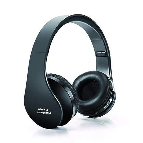 Auriculares Inalámbricos Bluetooth, Cascos Bluetooth Plegable con Micrófono, 20 Horas Reproducción de Música Orejeras de Memoria Suave para TV, PC, ...