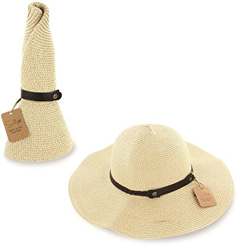 SunLily Women's Roll-n-Go Sun Hat, Tan, One Size (Chimp Face)
