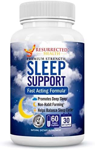 Natural Sleep Aid Supplement - Fall Asleep Fast w/Ashwagandha & Chamomile - GABA + 5-HTP for Anxiety Relief - Get Calm & Deep Sleep w/St Johns Wort & Melatonin - Non Habit Forming Sleeping Pills