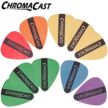 ChromaCast Guitar Pick Packs (10 Pack Durapick, Assorted)
