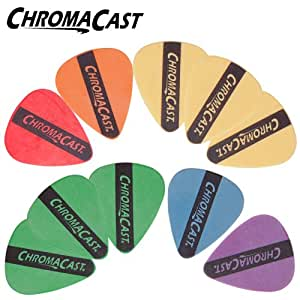 ChromaCast DuraPicks 10 Pick Sampler - Includes: Extra Thin, Thin, Thin/Medium, Medium, Medium/Heavy & Heavy Gauge Picks
