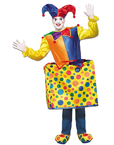 Man In The Box Costume (Forum Men's Jack in the Box Deluxe Costume, As Shown, STD)