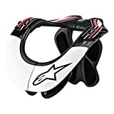 Alpinestars Men's Bans Pro Neck Support, Black/White/Red, Large/X-Large