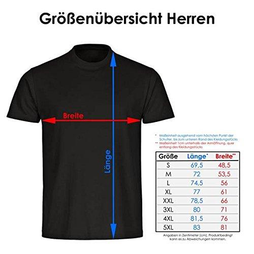 T-Shirt Ich brauche keine Therapie ich will nur Bier schwarz Herren Gr. S bis 5XL