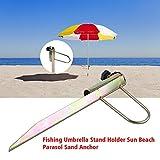 Iron Beach Umbrella Anchor Rotary Umbrella Sand Anchor Auger Holder Sand Grabber Outdoor