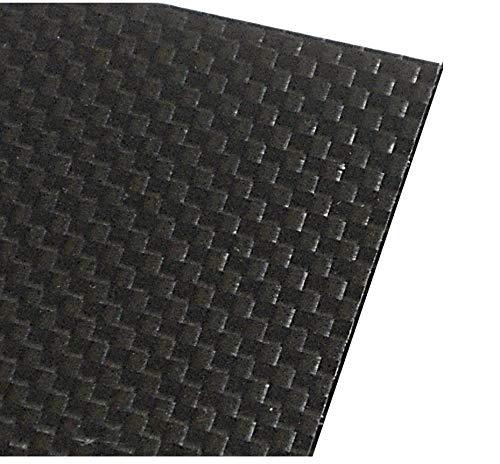 カーボン板(CFRP)4mm厚 3K平織り艶消し両面(表裏面3K) 500x500mmサイズ 【4mm厚:1枚】   B013LAD3HM