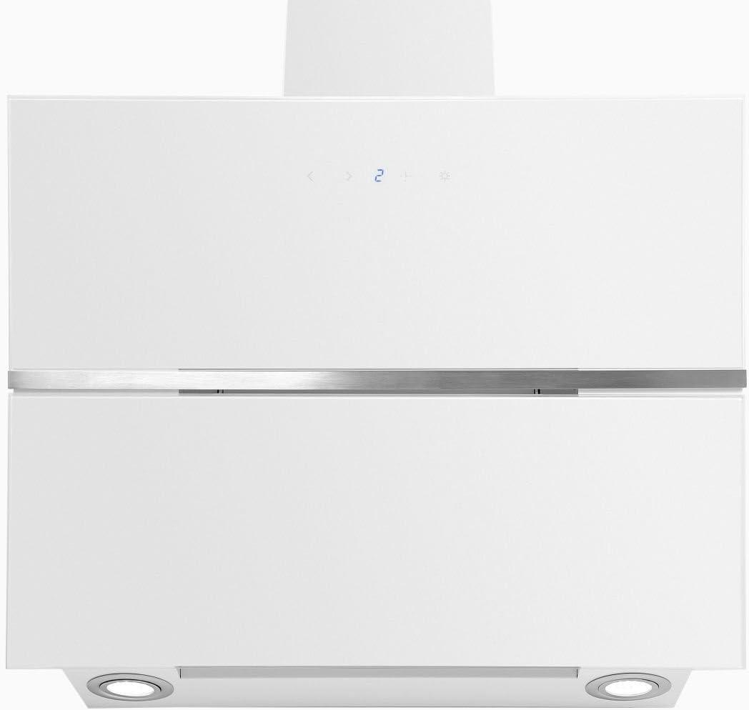 Novedad exclusiva Cristal Blanco Campana extractora 60 cm kopffrei ...