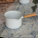 Kitchen Goods Homestead gravy maker white enamel saucepan Nordic Country