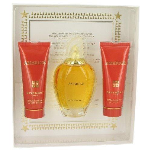 Gel Givenchy Perfume (Givenchy Amarige Gift Set for Women (Eau De Toilette Spray, Silk Body Veil, Delicate Bath Gel))
