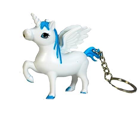 Amazon.com: Diseño de unicornio con soporte de llavero ...