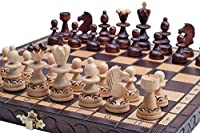 The Delbog Wood Chess Set with Chess Board and Storage