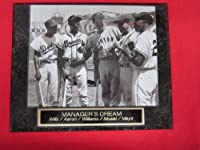 Hank Aaron Willie Mays Ted Williams Collector Plaque w/8x10 RARE Photo