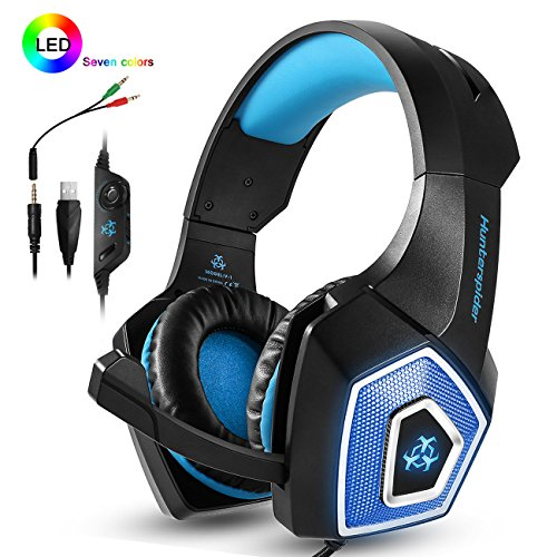 Headphones Over ear Isolating Microphone Mac%EF%BC%88Black Blue