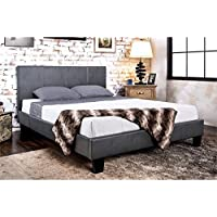 Furniture of America Ramone California King Upholstered Panel Bed