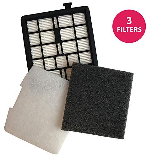 1 Dirt Devil F45 HEPA Canister Filter, Foam Filter & Exhaust Filter Fits Dirt Devil F45, Pets Canister Vacuum SD40000, & EZ Lite Canister SD40010; Compare to Part # 2KQ0107000, 2KQ0104000, 1KQ0106000; Designed & Engineered By Crucial Vacuum