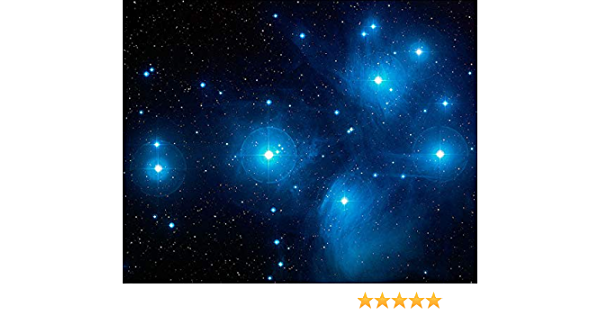 NASA PLEIADES SEVEN SISTERS STAR CLUSTER 8x10 SILVER HALIDE PHOTO PRINT