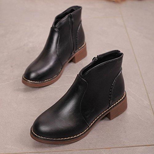 Ankle Boots Fashion Winter Martin 2017Women Black Snow Shoes TM Elevin Flat Platform aznZ7t0