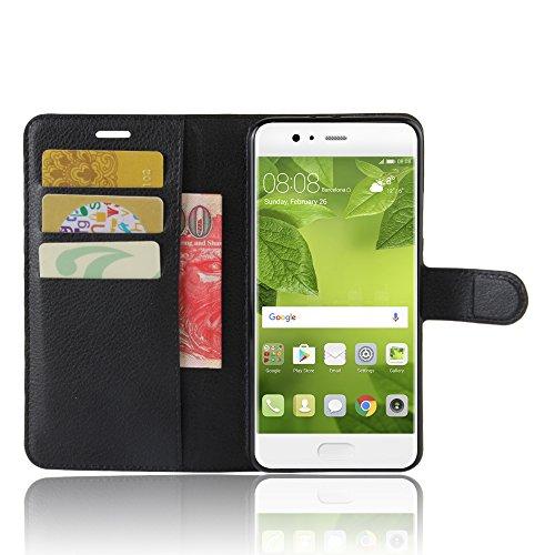 Manyip Funda Huawei P10 Plus,Caja del teléfono del cuero,Protector de Pantalla de Slim Case Estilo Billetera con Ranuras para Tarjetas, Soporte Plegable, Cierre Magnético(JFC5-17) C