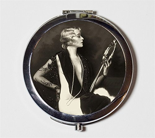 Art Deco Flapper Follies Compact Mirror 1920's Jazz Age Roaring 20s Ziegfeld Follies Hoop Make Up Pocket Mirror for Cosmetics by Fringe Pop