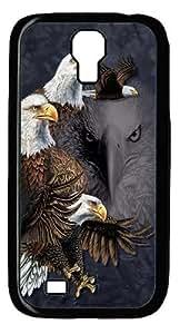 Find 10 Eagles Custom Samsung Galaxy I9500/Samsung Galaxy S4 Case Cover Polycarbonate Black