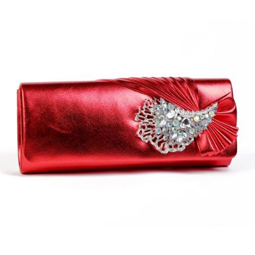 Damara - Bolso al hombro para mujer large rojo - rojo