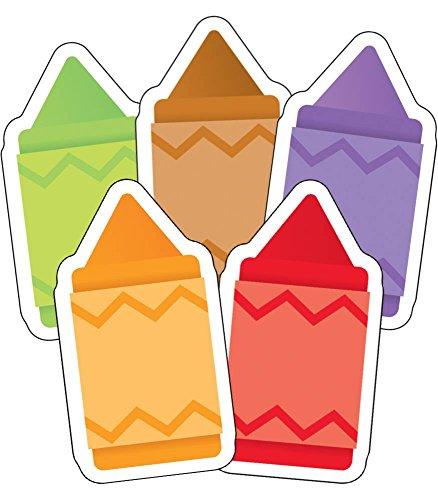 Carson Dellosa Assorted Colors Mini Crayons Cut-Outs, 41 Pieces