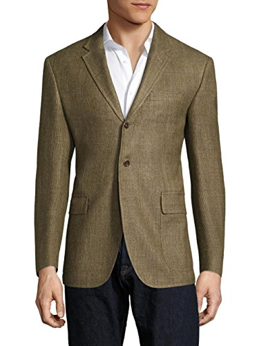 Polo Ralph Lauren Men's Lightweight Regular-Fit Harvard Wool & Silk-Blend Blazer, Olive Green